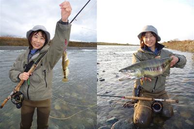 Kさんのアユカケと鮭.jpg